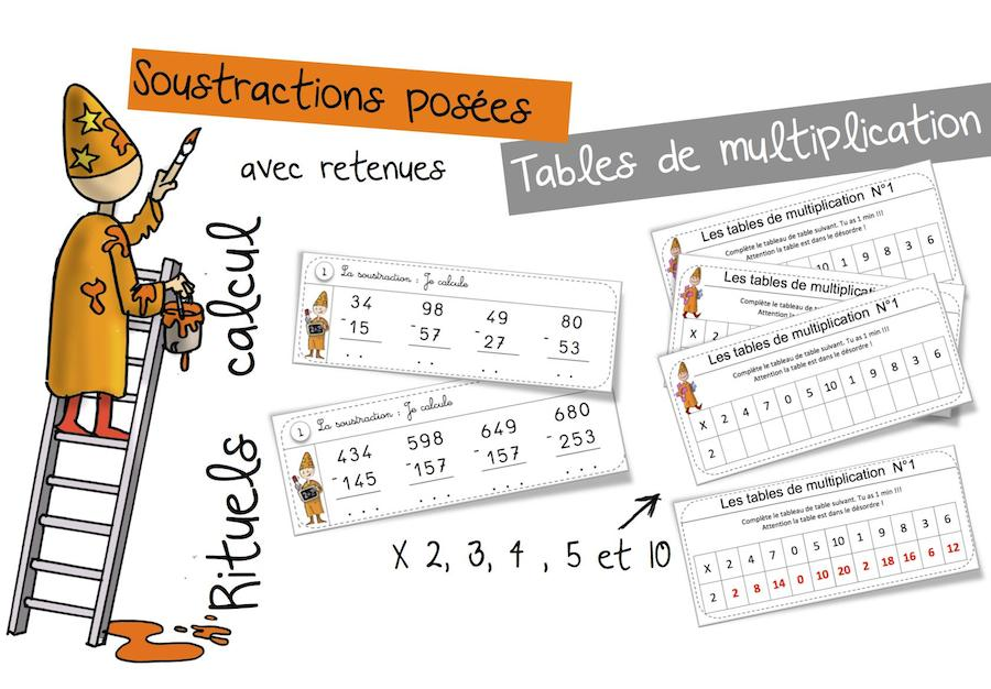 Exercice de table de multiplication 2 3 4 5 6 exercices - Exercice table de multiplication cm1 ...