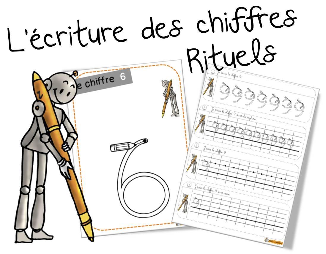 Bekannt Rituels « Ecriture des chiffres « | Bout de Gomme VA57