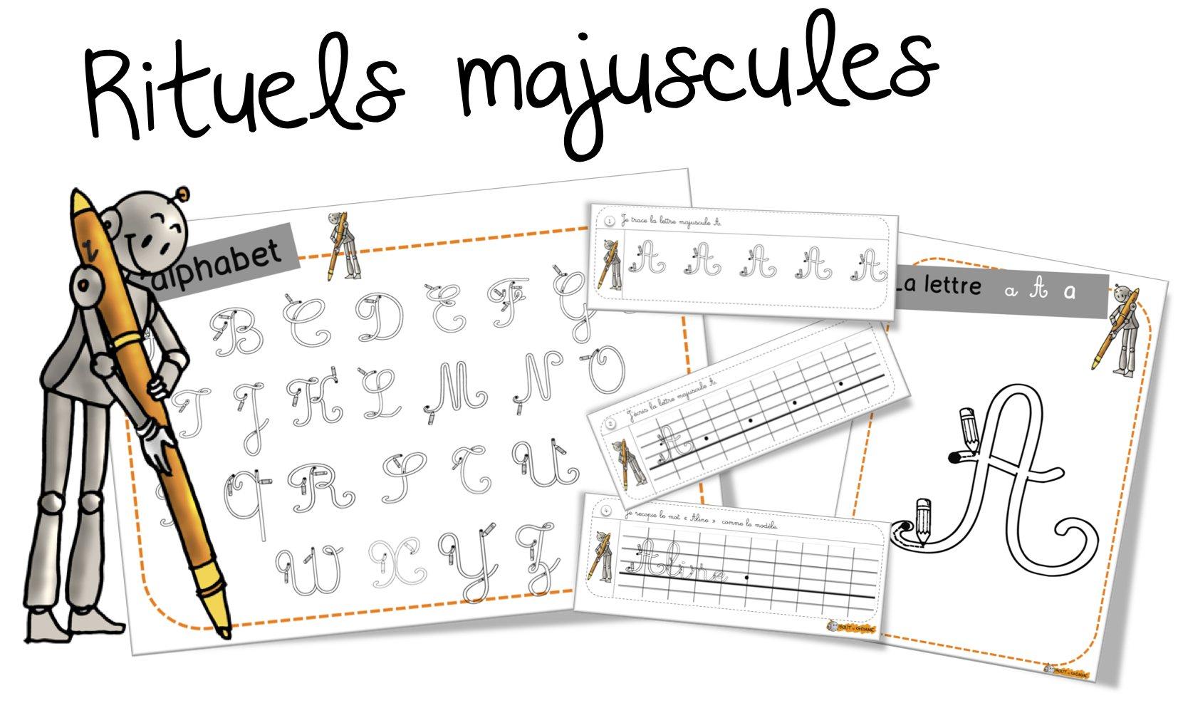 rituels cp et ce1 ecriture les rituels criture majuscule - Lettre Majuscule A Imprimer