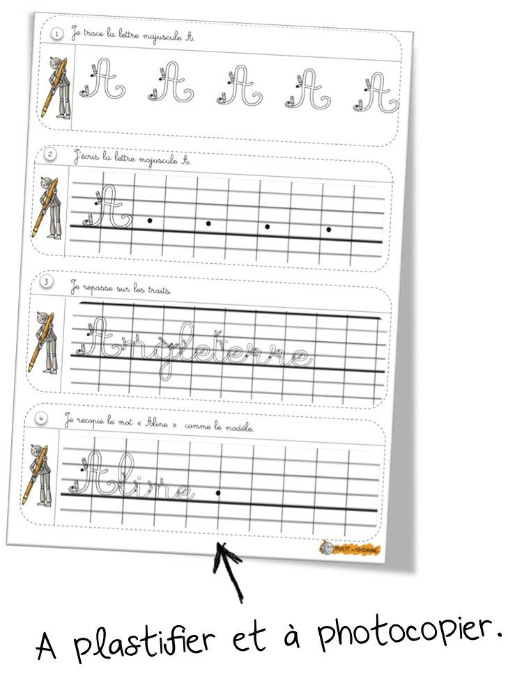 Souvent Rituels écriture : les majuscules | Bout de Gomme YS01