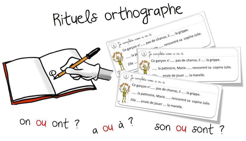 Assez Rituels « orthographe » : les homophones grammaticaux | Bout de Gomme WY59
