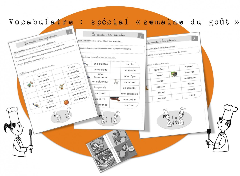 Vocabulaire la recette bout de gomme for Vocabulaire de cuisine