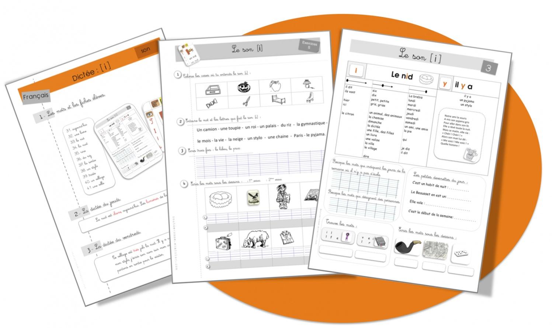 Célèbre Le son i : fiche élève, exercice et dictée CE1 . | Bout de Gomme VO83