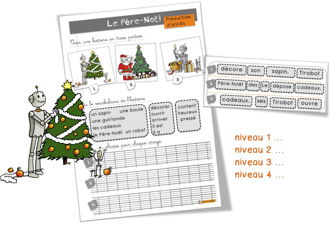 #B72B14 Production D'écrits : Le Père Noël Bout De Gomme 5359 décorations de noel ce1 1145x789 px @ aertt.com