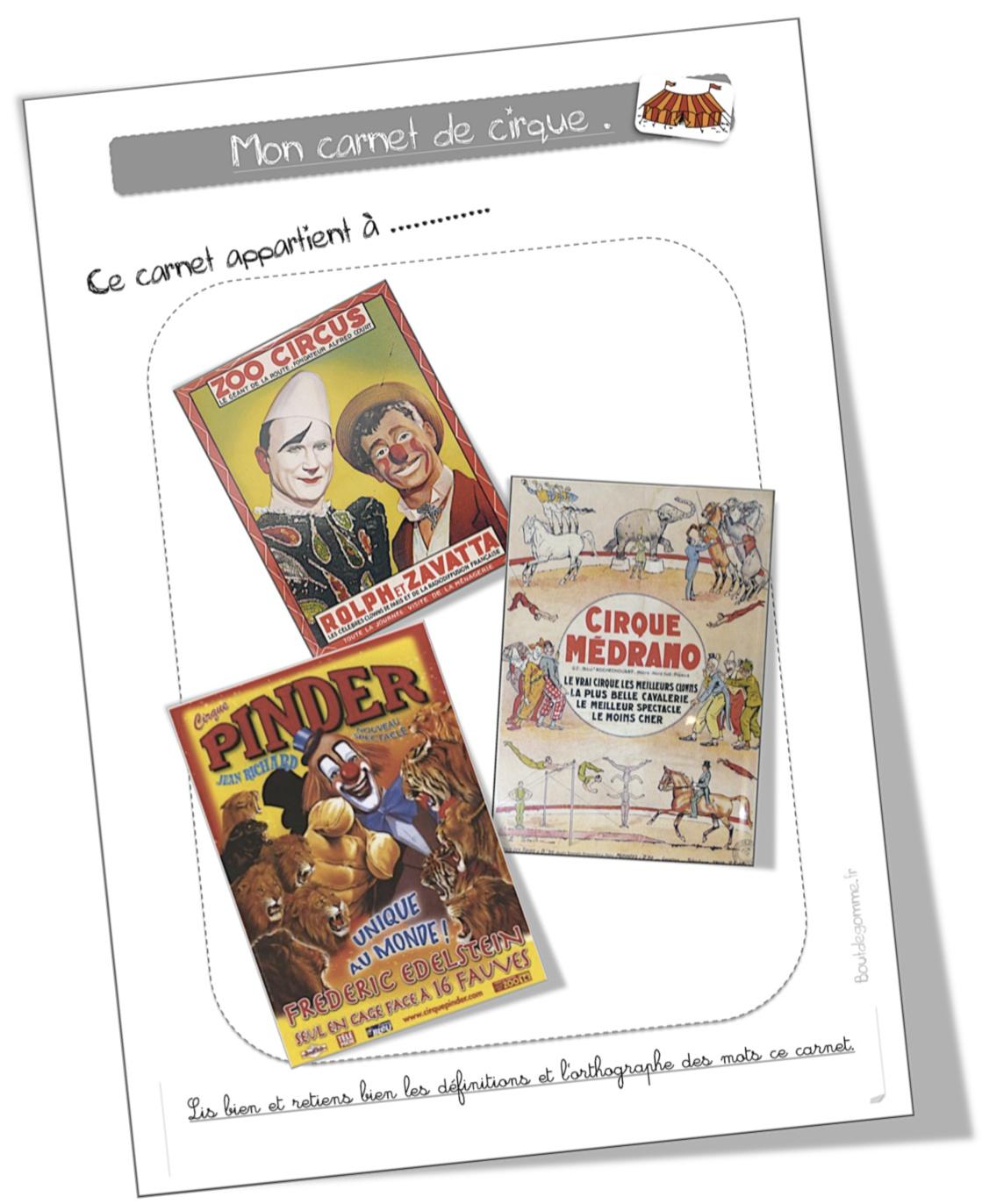 Coloriage Cirque Cp.Coloriage Vocabulaire Autour Du Cirque Bout De Gomme