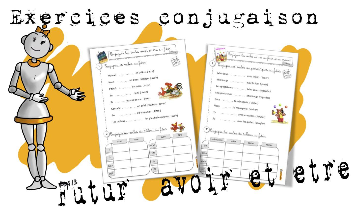 Conjugaison Le Futur D Avoir Et Etre Avec La Petite Poule Bout De Gomme