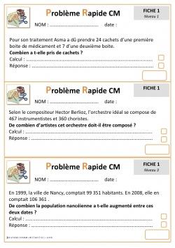 Problemes Cm2 Bout De Gomme
