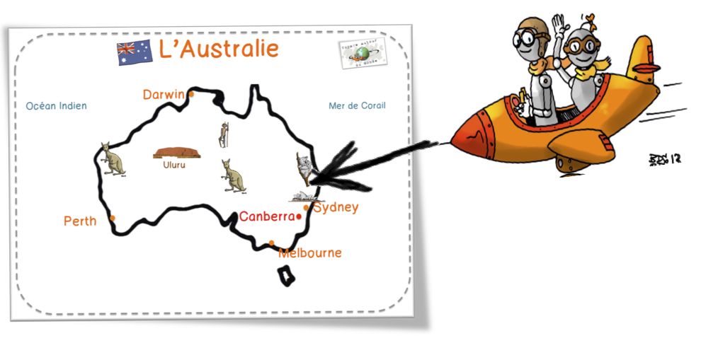 Turbo DDM :L'Australie et le Loup qui voulait faire le tour du monde  YJ65