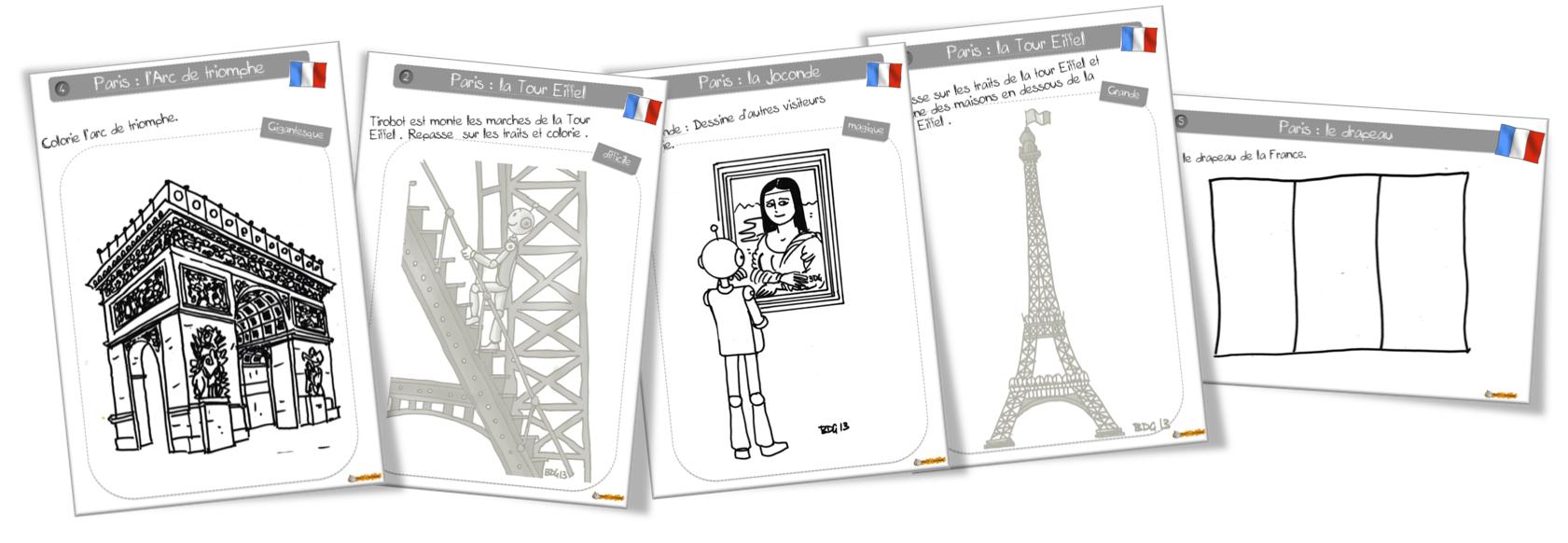 Coloriage De Paris A La Bout De Gomme Bout De Gomme