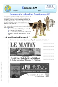 Sciences : Le Calendrier CM