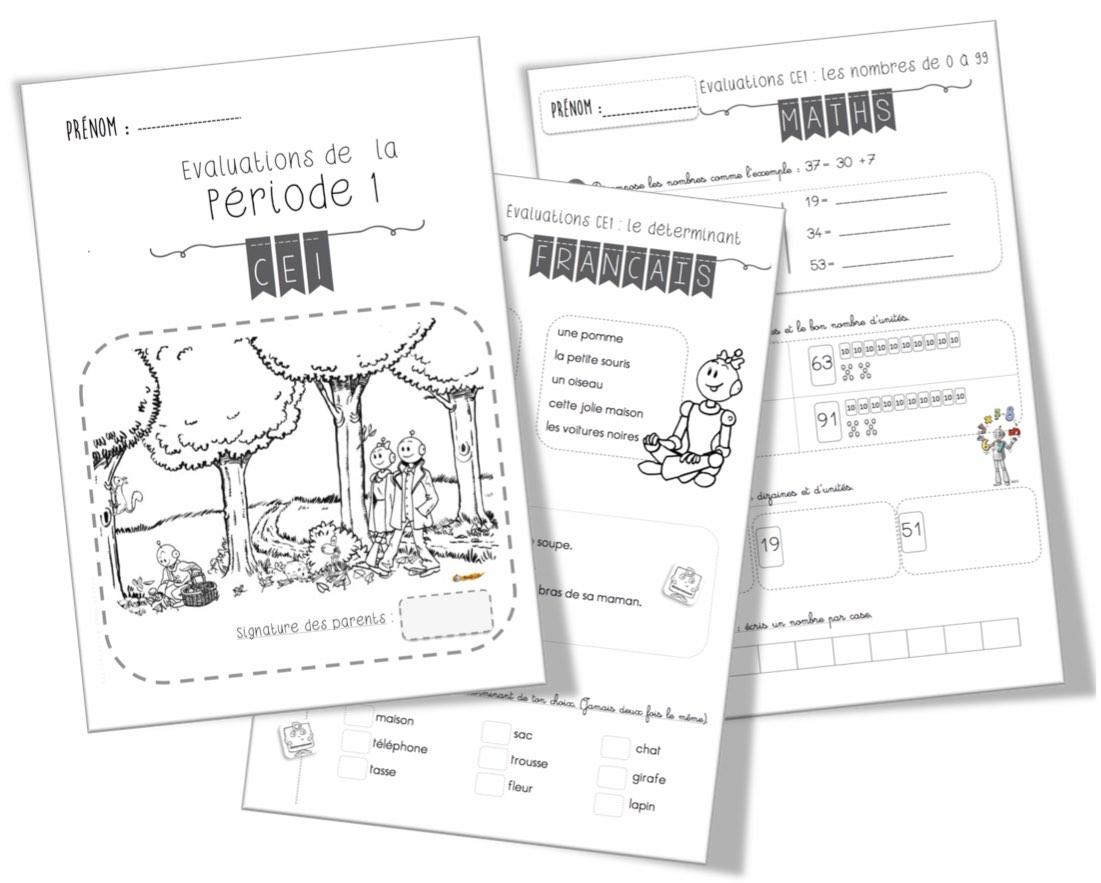 Evaluations CE1 | Bout de Gomme