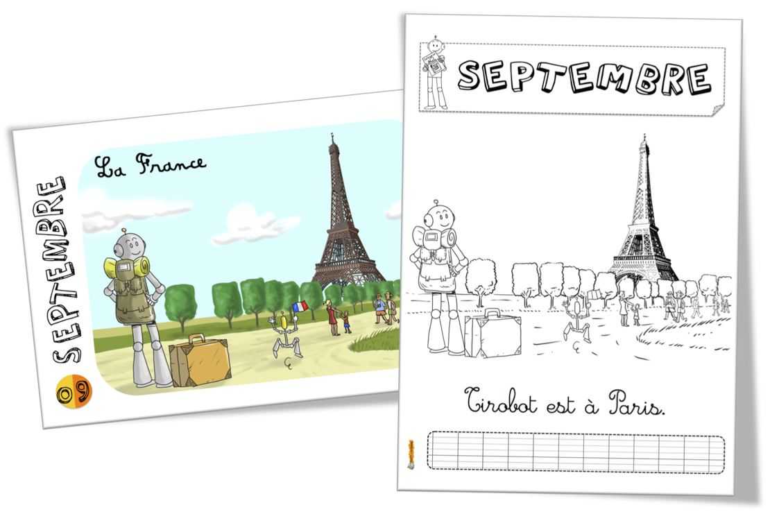 Coloriage Tirobot a Paris septembre_BDG
