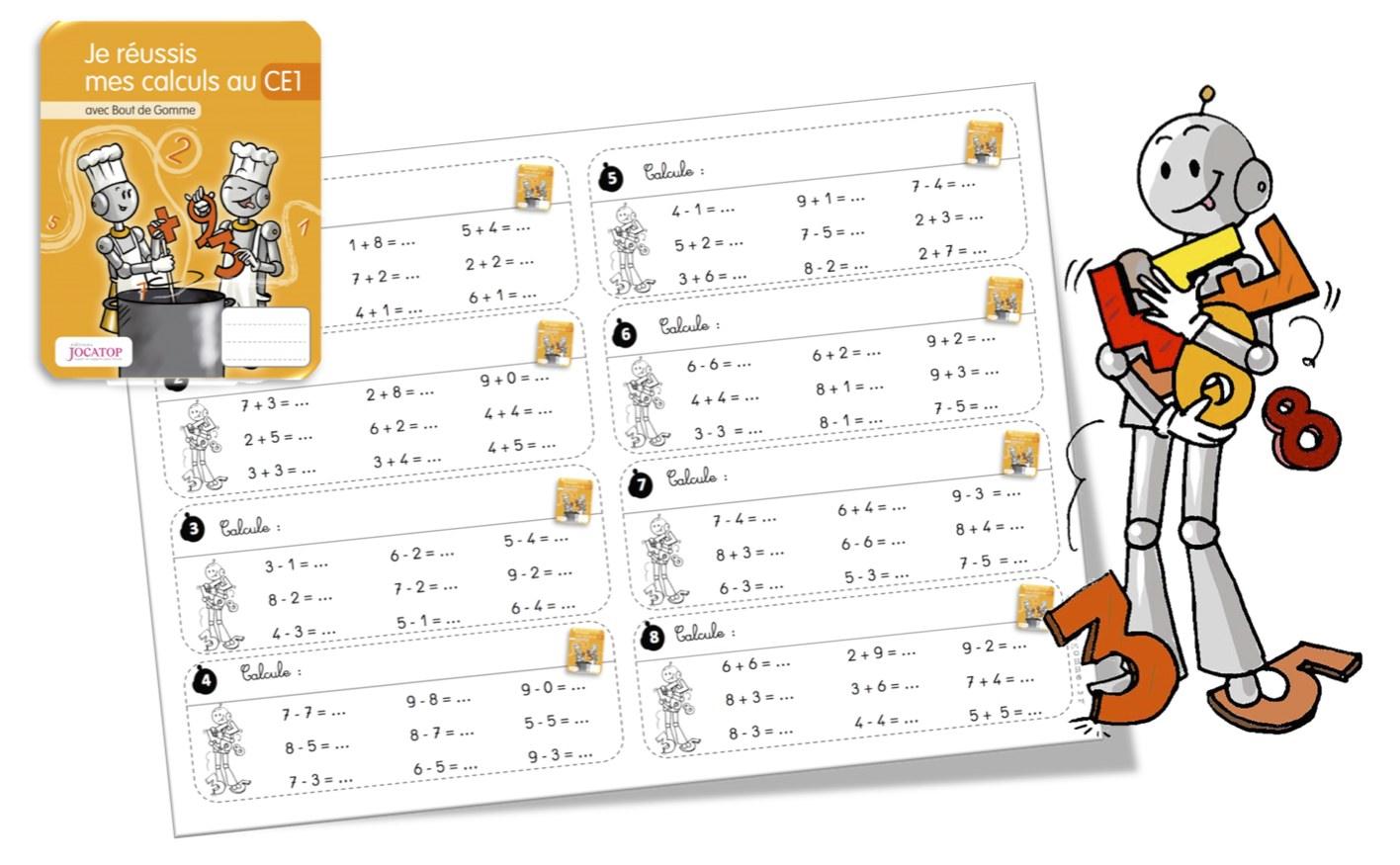 Rituels calcul avec les cahiers de calcul jocatop ce1 - Calcul cm1 a imprimer ...