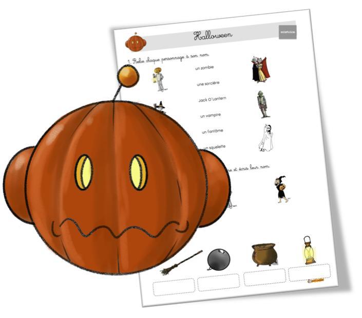 vocabulaire halloween et peur BDG2