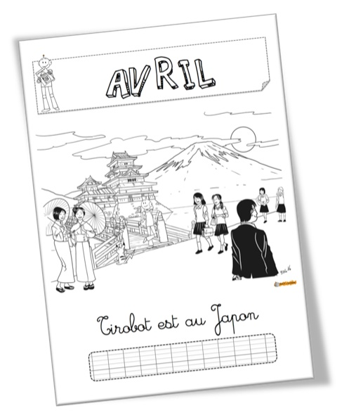 Coloriage Avril Bout De Gomme.Affichage Et Coloriage Du Mois D Avril Tirobot Au Japon Bout De