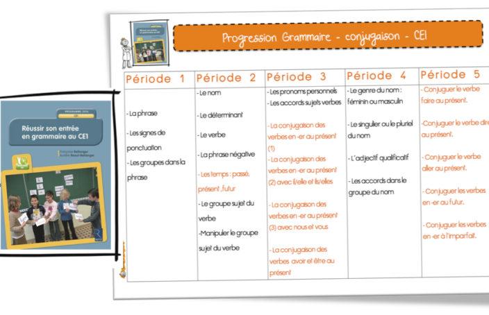 Progression 2016 Conjugaison Et Grammaire Ce1 Avec Rseeg Retz