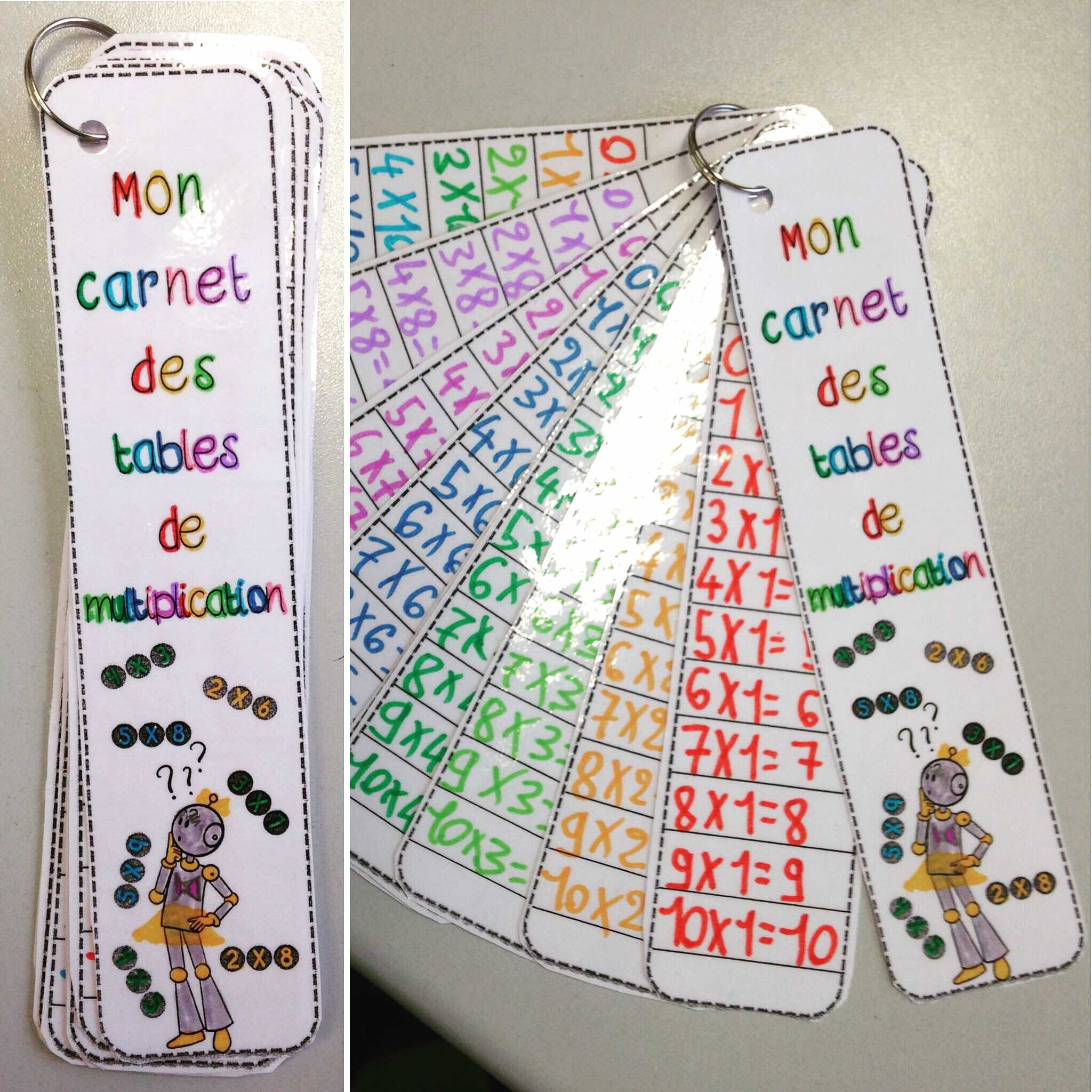 Calcul mon carnet des tables de multiplication bout de - Apprendre facilement les tables de multiplications ...