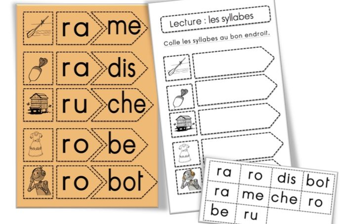 Jeu phono : fusionner les syllabes – REBUS | Syllabes