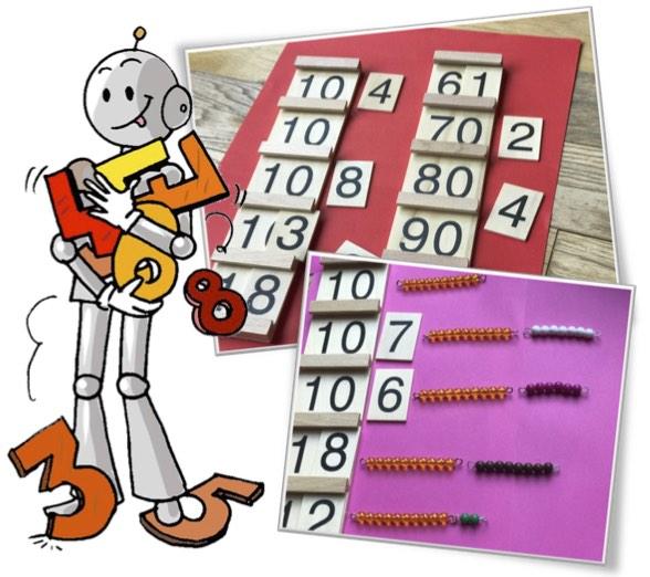 Materiel De Numeration Les Plaques Et Perles Montessori Bout De Gomme