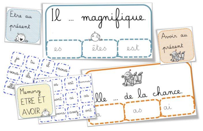 Cartes A Pinces Et Memory Conjugaison Des Verbes Avoir Et Etre Bout De Gomme