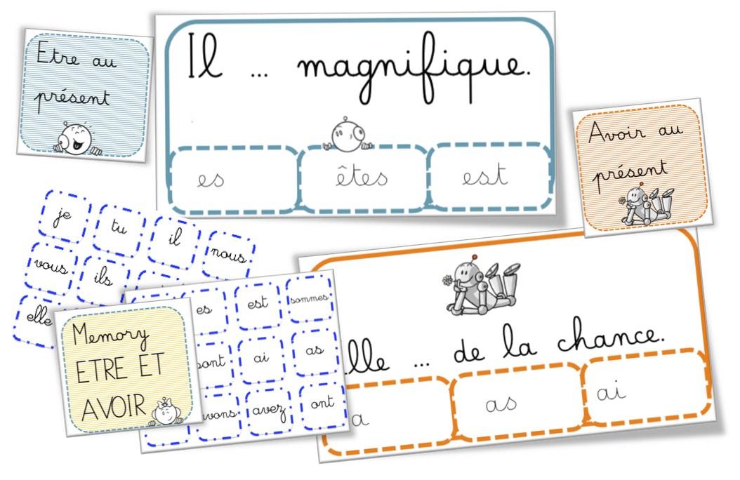 Cartes à Pinces Et Memory Conjugaison Des Verbes Avoir Et